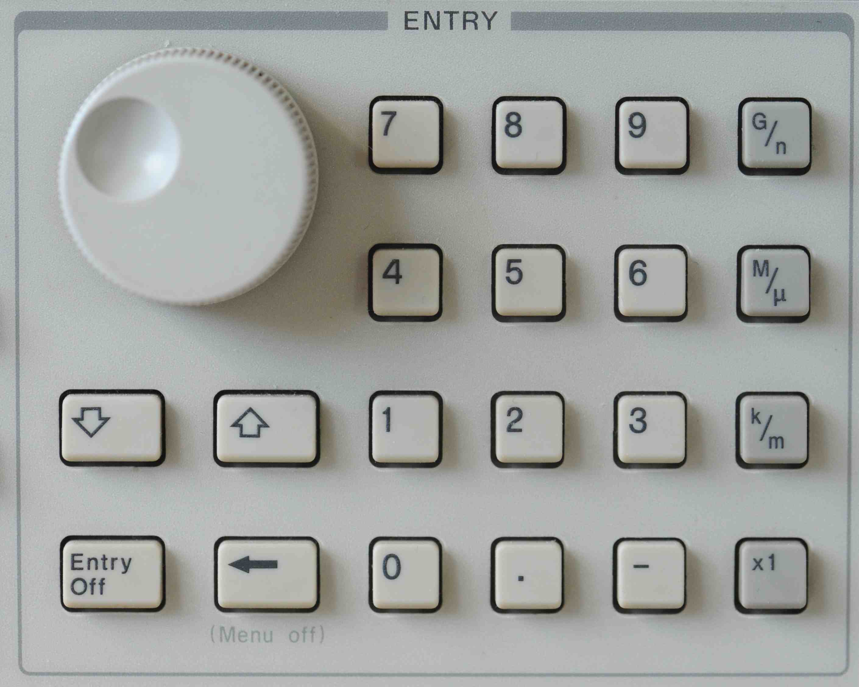 Use rotary know, or up/down arrow keys